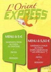 Menu L'orient Express - Carte et menu L'orient Express Lens