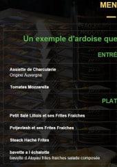 Menu Le café de paris - Les entrées et plats