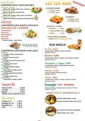 Menu Le classico - Les salades, pates, tex-mex,...