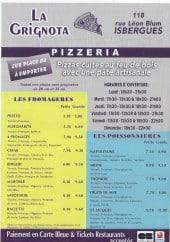 Menu La Grignota - Carte et menu La Grignota Isbergues