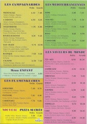 Menu La Grignota - Campagnards, menu enfant, flammekuches,...