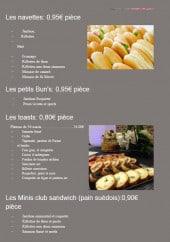Menu L'Entre Mets - Les nevettes, toast...