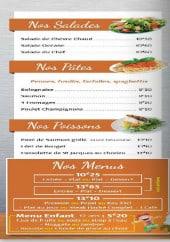 Menu La Loco - Les salades, les pâtes, les poissons ...
