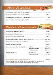 Menu La Loco - Les entrées et la brasserie