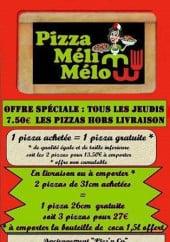 Menu Pizza Meli Melo - Carte et menu Pizza Meli Melo Bethune