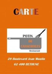 Menu Potin de Casseroles - Carte et menu Potin de Casseroles Bethune