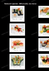 Menu Restaurant Sushi Nord - Les menus M