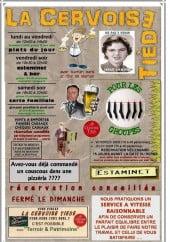 Menu La cervoise tiède - Carte et menu La cervoise tiède Benifontaine