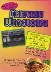Menu Friterie wingloise - Carte et menu  Friterie wingloise à Wingles