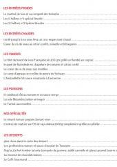Menu Au Bistronome - Les entrées, plats, spécialités et desserts