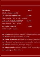 Menu Houblonniere berck - Plats du jour et formules
