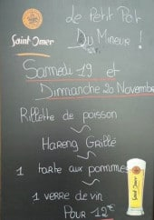 Menu Le petit pot du mineur - Exemple de menu du week-end
