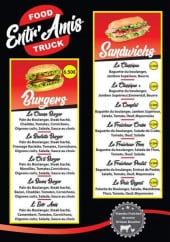 Menu Entr'Amis - les burgers et sandwichs