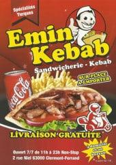 Menu Emin Kebab - Carte et menu Emin Kebab Clermont Ferrand