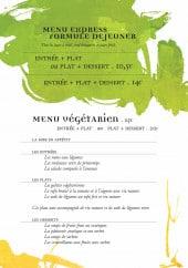 Menu Kim Oanh - Formule déjeuner et plats végétariens
