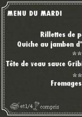 Menu L'Escapade - Exemple de menu