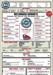 Menu B4 Bowling - Les burgers, plats, salades et menus