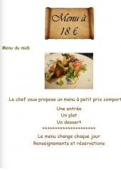 Menu Le P'tit Roseau - Le menu à 18€