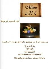 Menu Le P'tit Roseau - Le menu à 21€