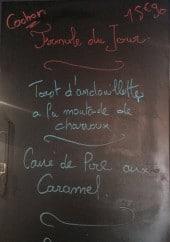 Menu Les Tontons - Un exemple de menu du jour