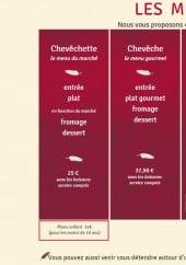 Menu Le Chouette - Les menus