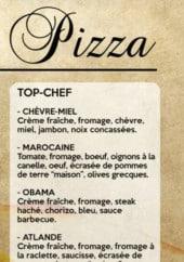 Menu Master Pizza - Les top chef