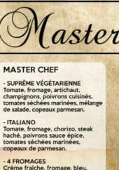 Menu Master Pizza - Les master chef