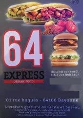 Menu 64 Express - Carte et menu 64 Express Bayonne