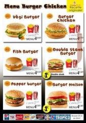 Menu Chicken Pacha - Menus burgers