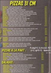 Menu Pizza belharra - les pizzas et salades