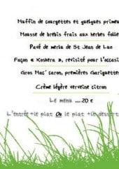 Menu L'Instant - Un extrait du menu