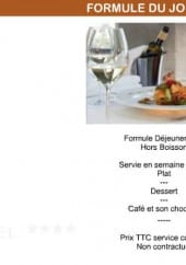 Menu Le Café de Paris - La formule du jour à 21€