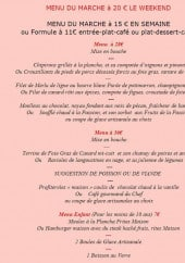 Menu Auberge du Fronton - Les menus du marché