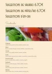 Menu Do Eat Yourself - Les suggestions et sandwiches