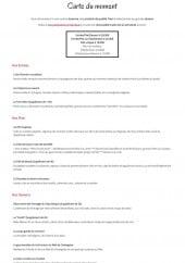 Menu La Ferme Gourmande - Entrées, plats et desserts