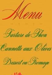 Menu L'Adour - Exemple de menu du jour