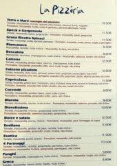 Menu Casa Italia - Les pizzas