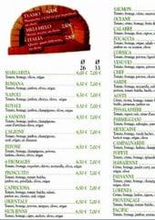 Menu Pizza Italia - Les pizzas