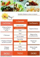 Menu Chiang May Express - Les entrées, spécialités et desserts