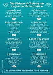Menu L'écailler du Castillet - Les plateaux de fruits de mer