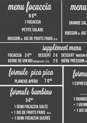 Menu La Terrasse - Les menus
