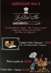 Menu Le Bel Air - Les formules