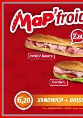 Menu Mapain - Les sandwiches
