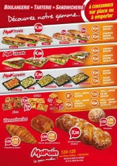 Menu Mapain - Les sandwiches, salades,....
