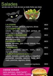 Menu Ô Cat allant - Les salades, burgers,...
