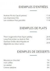 Menu La Casa Plana - Les entrees, les plats et desserts