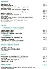 Menu La Pizzathèque - Les entrées, plats, spécialité italienne, et autres