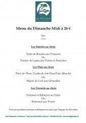 Menu L'étape Gourmande - Le menu du dimanche midi