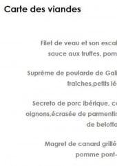 Menu Restaurant la Belle Vigne - Les viandes