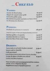 Menu Chez Elo - Les viandes, les poissons et desserts